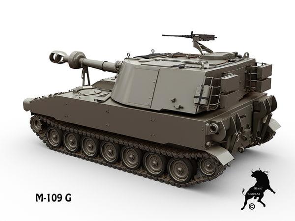 gun m-109 3d model