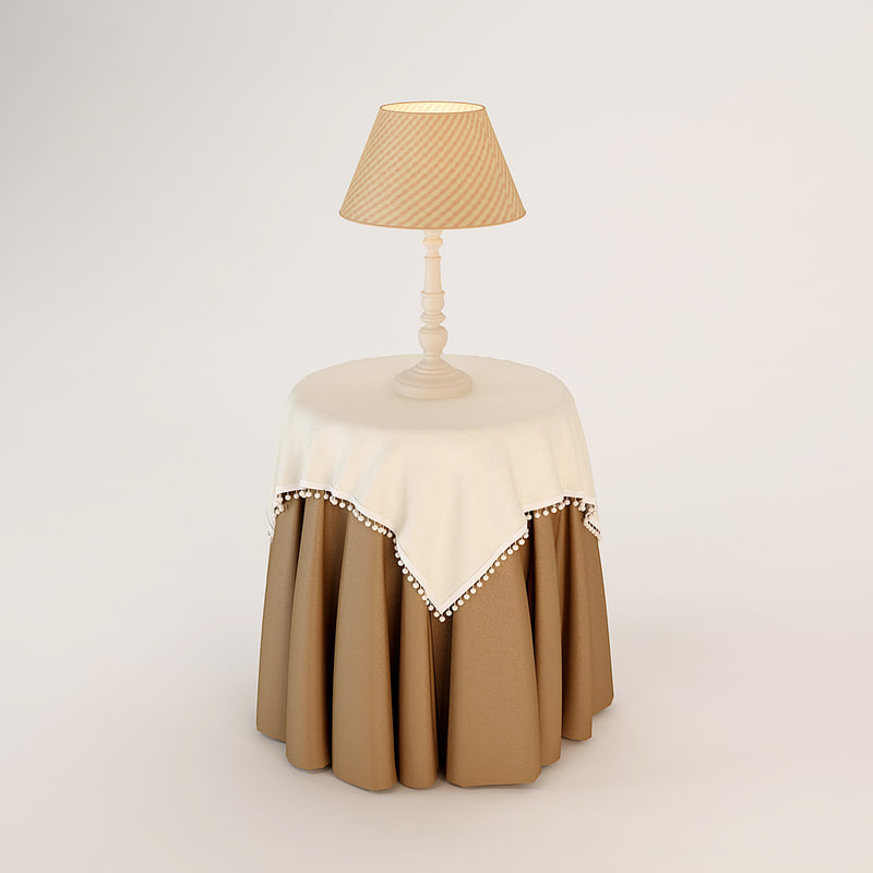 3d halley provence table lamp