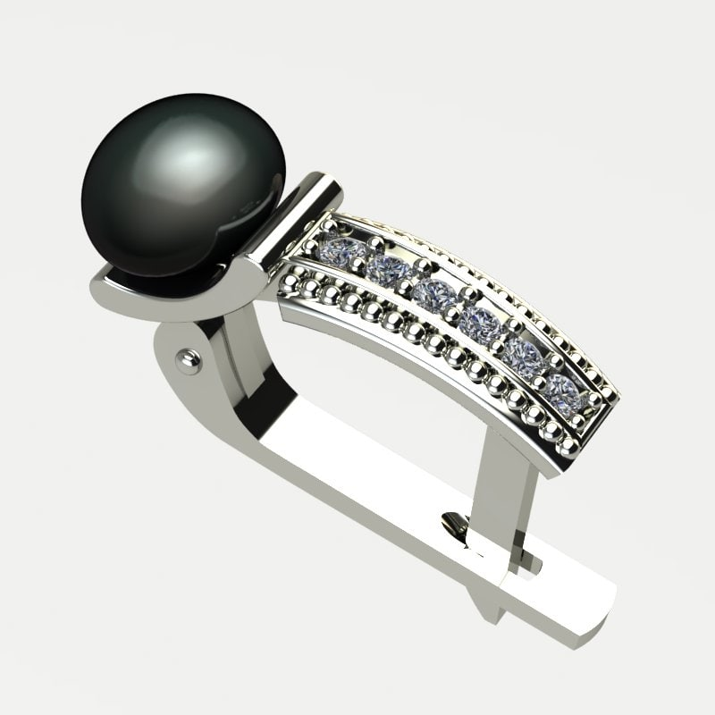 3d earring pearl