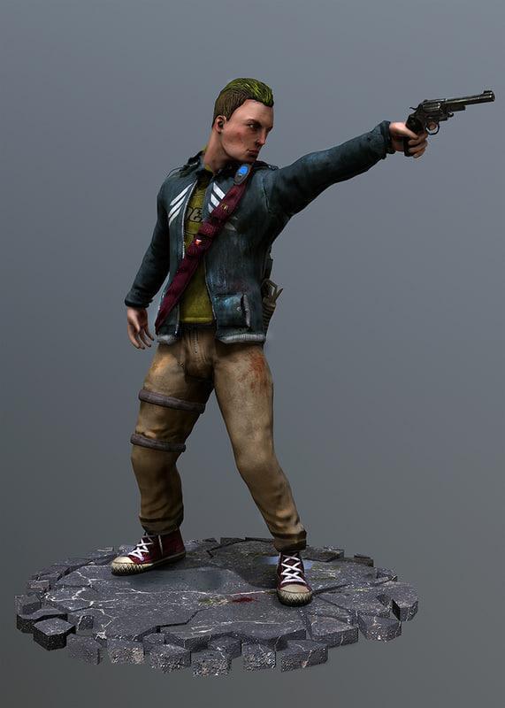3d rigged apocalypse survivor model