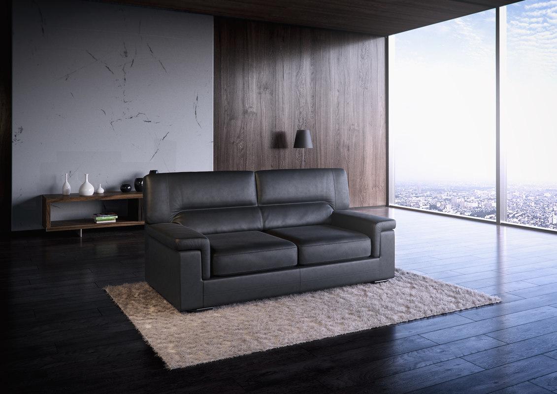 realistic orleans sofa 3d model
