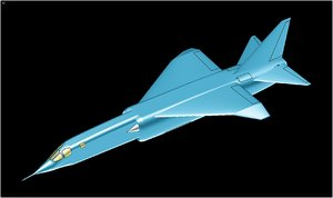 british bac tsr2 aircraft 3d model