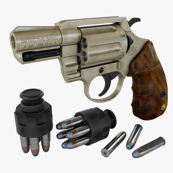 colt detective special 3d model