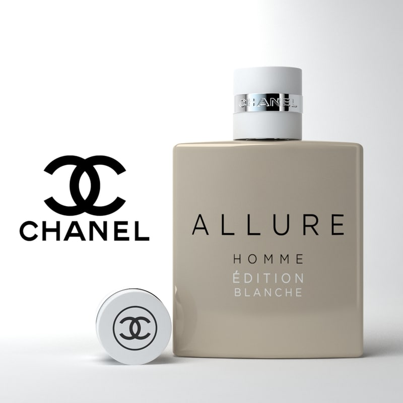 perfume chanel allure 3d model