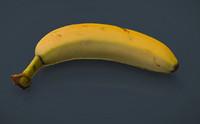 3d model real banana