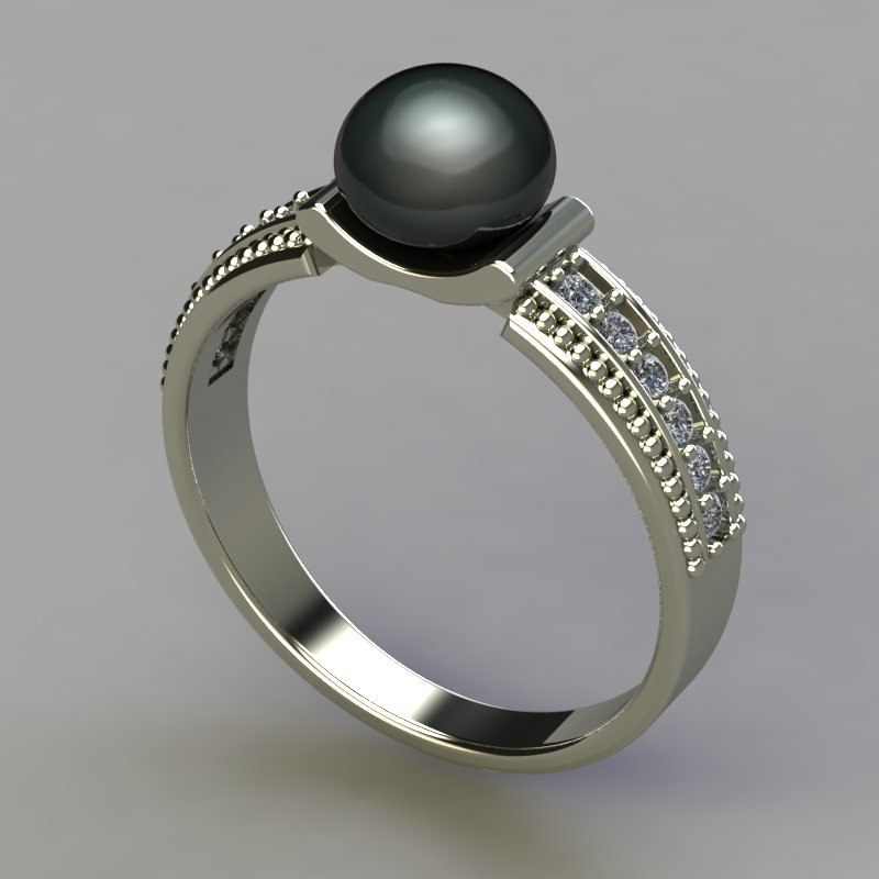 3dsmax ring pearl