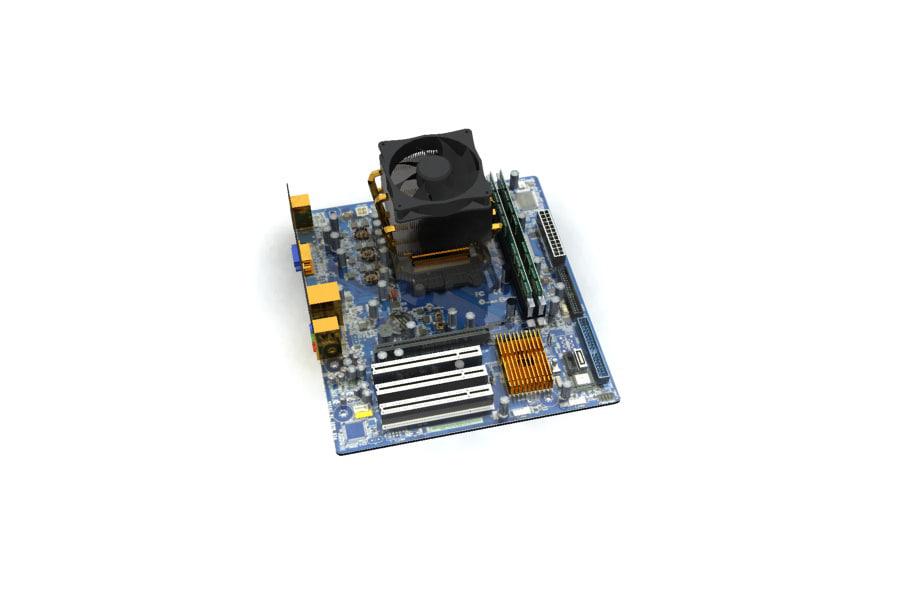 3d model m2n61 la nyssa motherboard