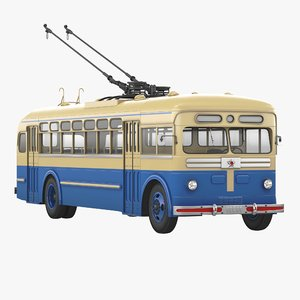soviet trolleybus mtb 82 3d model