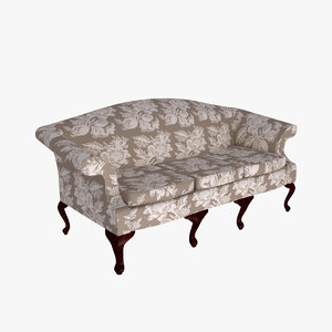 3d model of regency sofa