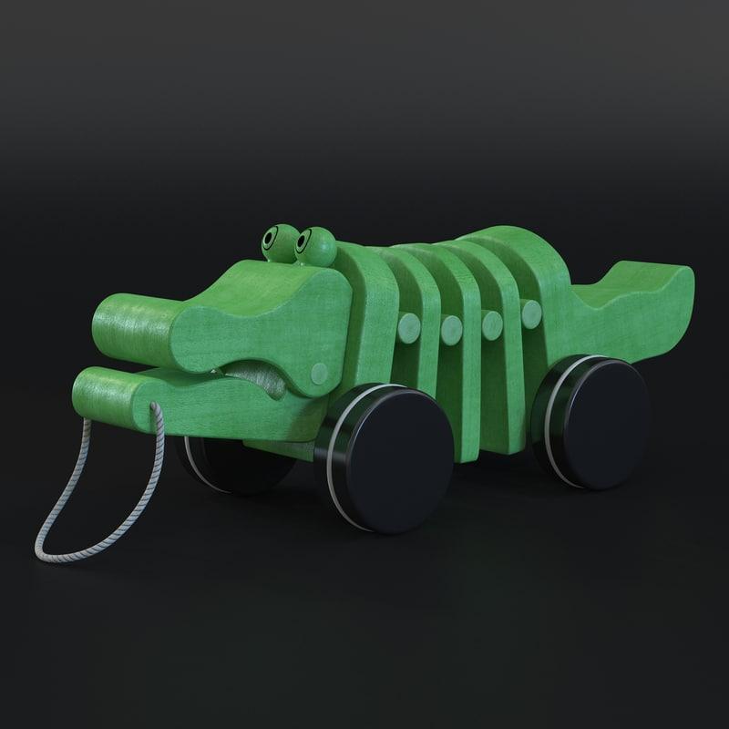 3d toy crocodile