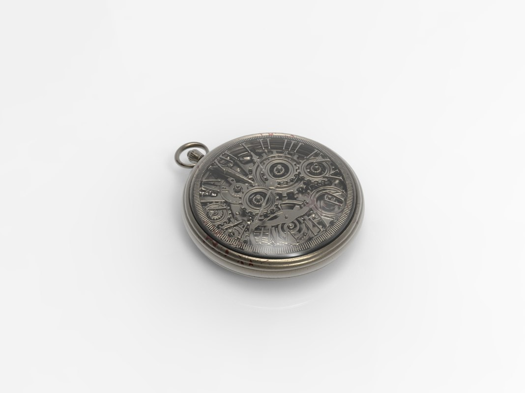 3d model antique pocket watch