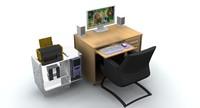 3d computer desk cpu
