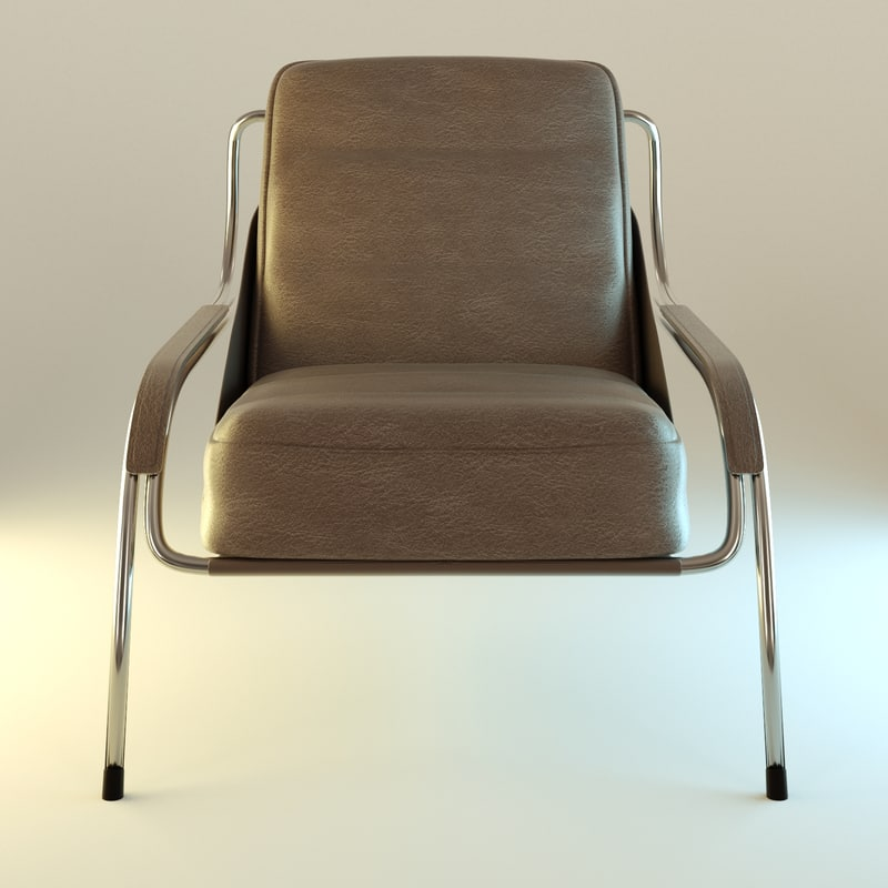 armchair leather interior obj
