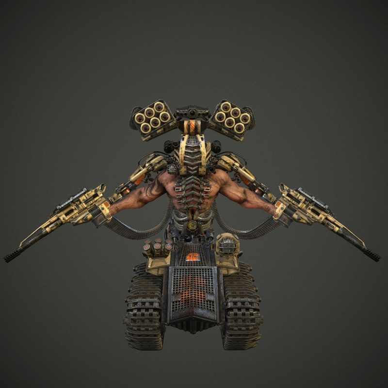 sci-fi cyborgdestroyer 3d max