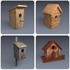 3d bird house model