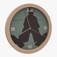 Charlie Chaplin Wall Clock 02