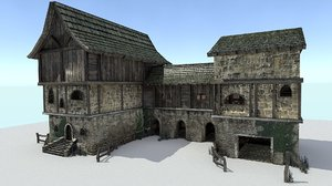 3ds max storehouse medieval city