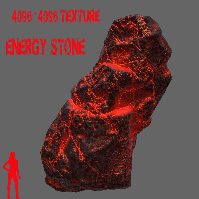 3d model glowing rock