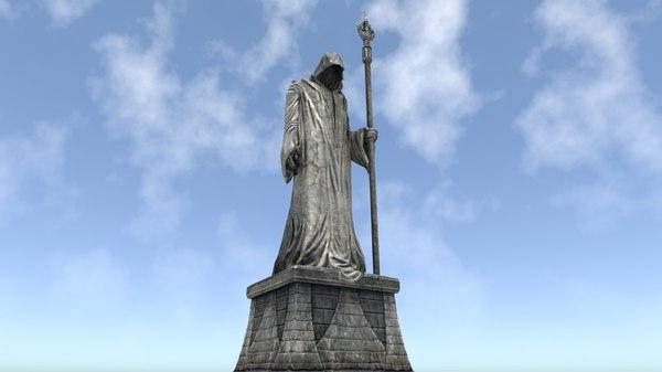 3ds wizard statue