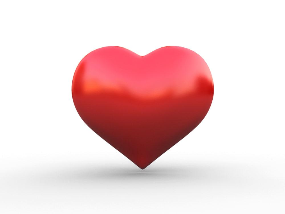 heart icon 3d max