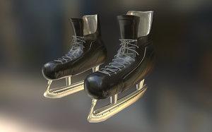 hockey skates 3d obj