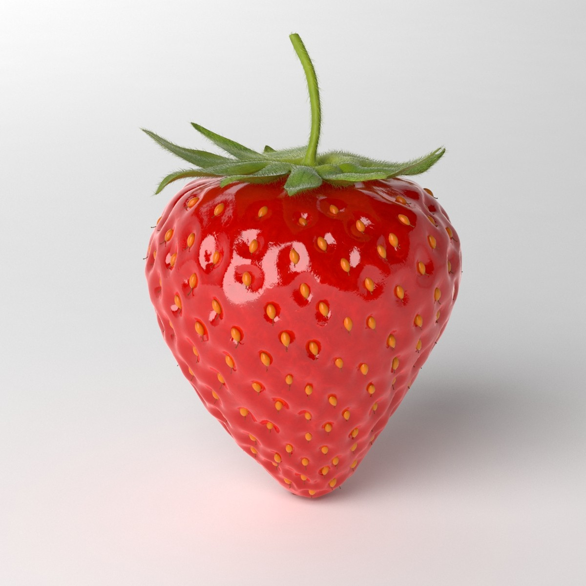 photorealistic strawberry 3d model