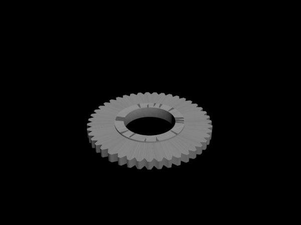 free simple gear 3d model