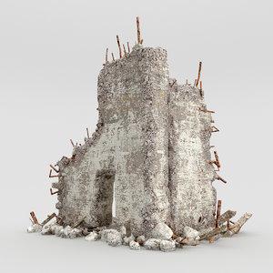 ruins building 3d model
