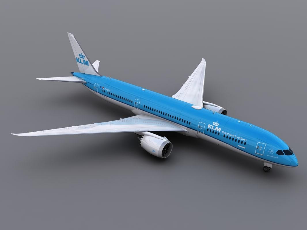 aircraft klm 3d max