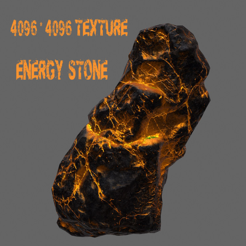 glowing rock obj