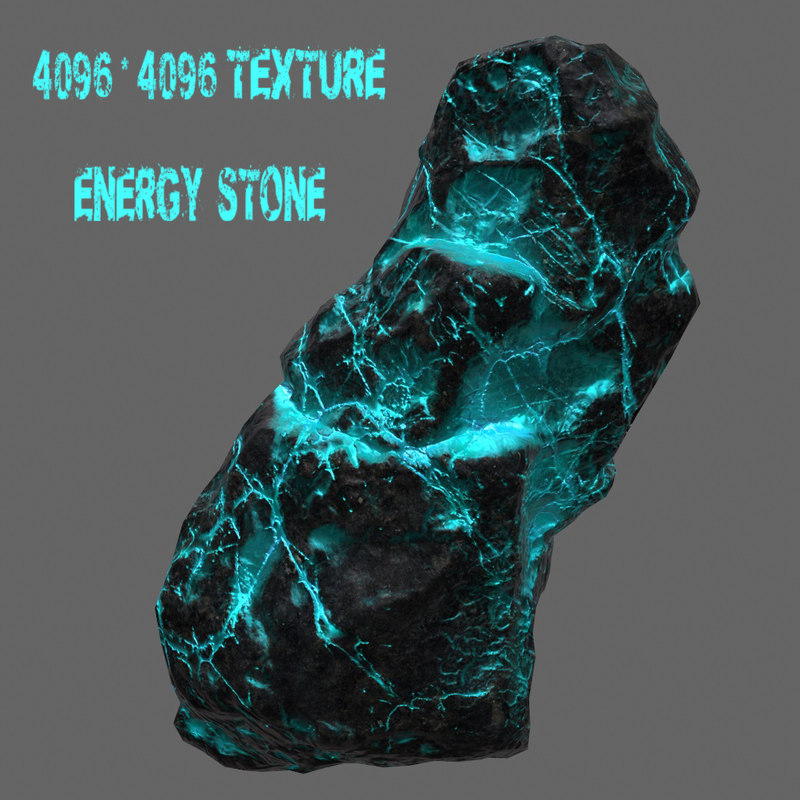 glowing rock 3d blend