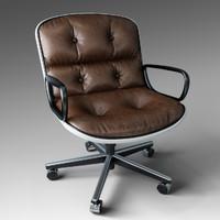 3d pollock executive chair