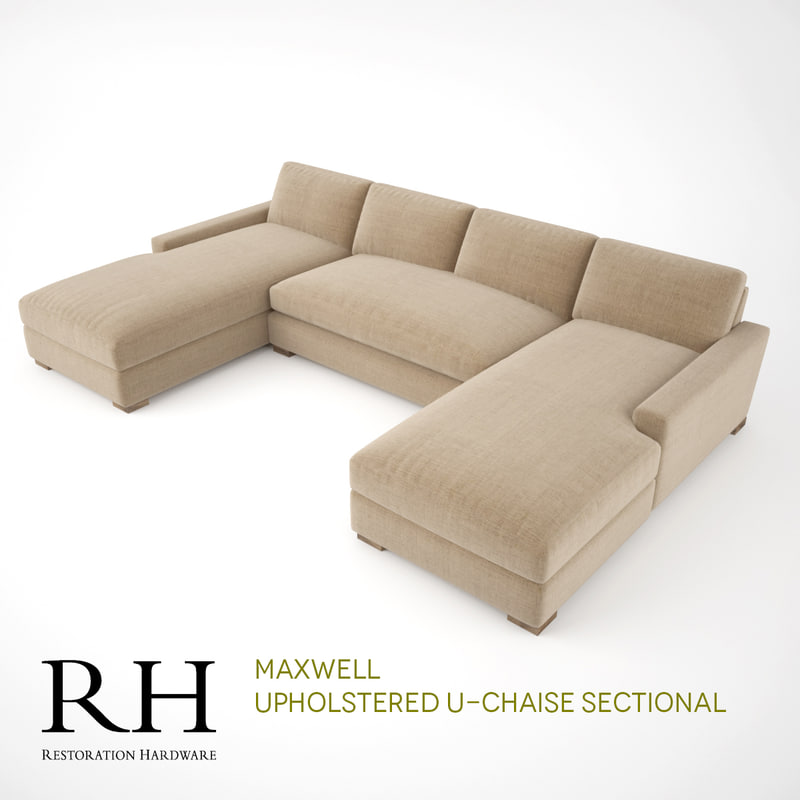 rh maxwell upholstered u-chaise max