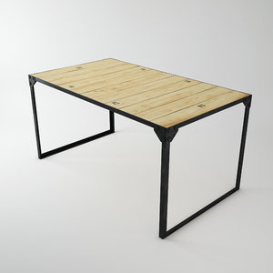 3d table scanline included model
