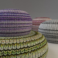 3d knitted fabric pouf model
