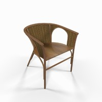 Wooden wicker chair