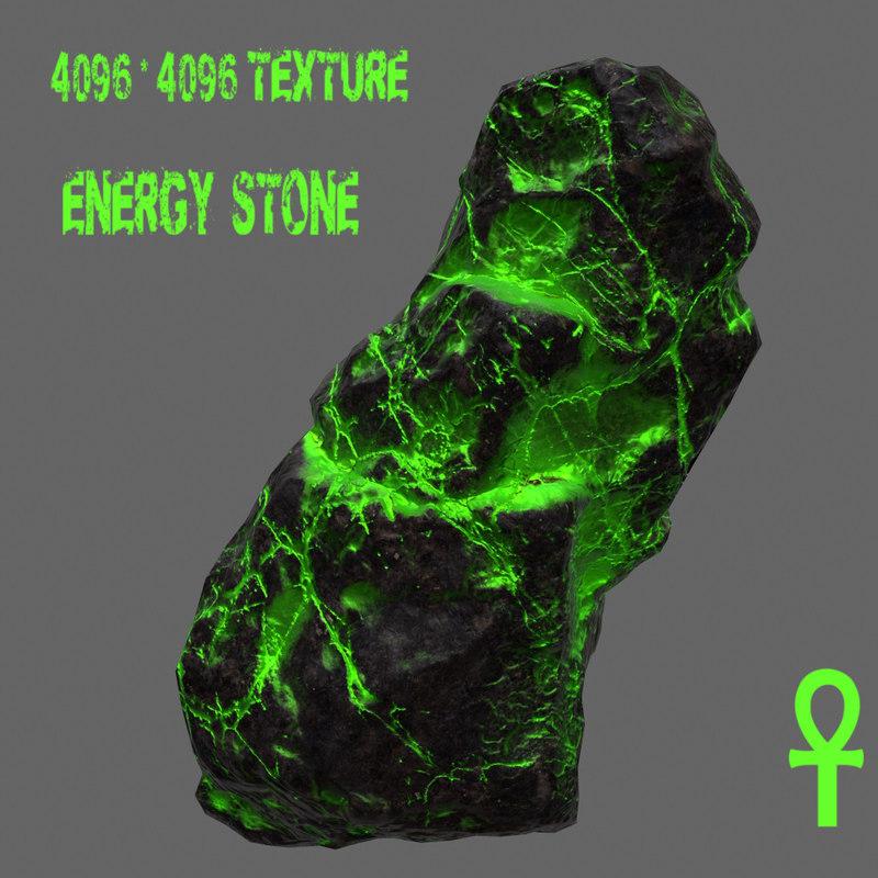 glowing rock 3d model