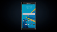 blackberry priv smartphone black 3d model