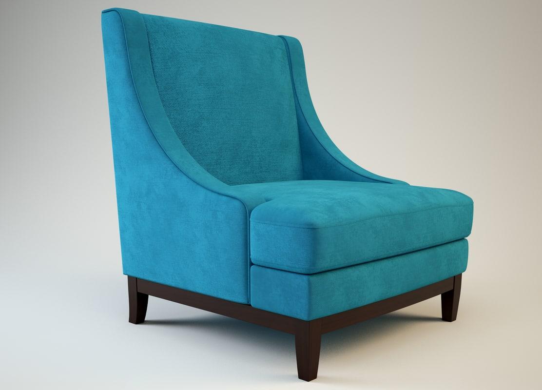 3d armchair vrayforc4d model