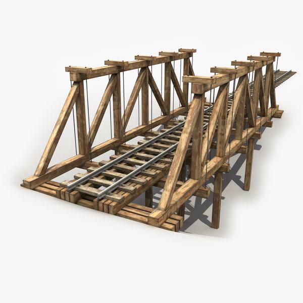 max 3 wooden railway bridge