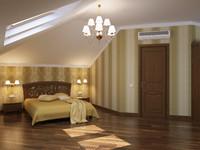 bedroom interior 3d max