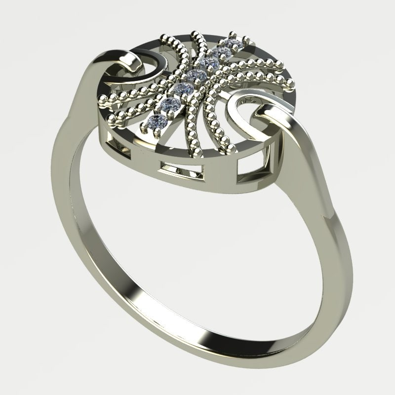white gold ring 3d model