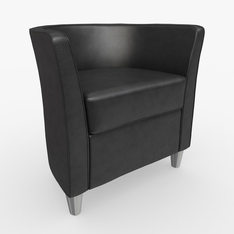 sillon boss 08 leather 3d model