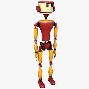 red robot 3d model