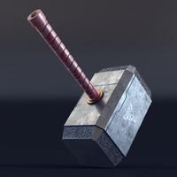 thor hammer 3d model