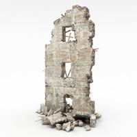 ruins building 3d max