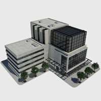 Modern Office City Building - HD Cityscape Tile 1