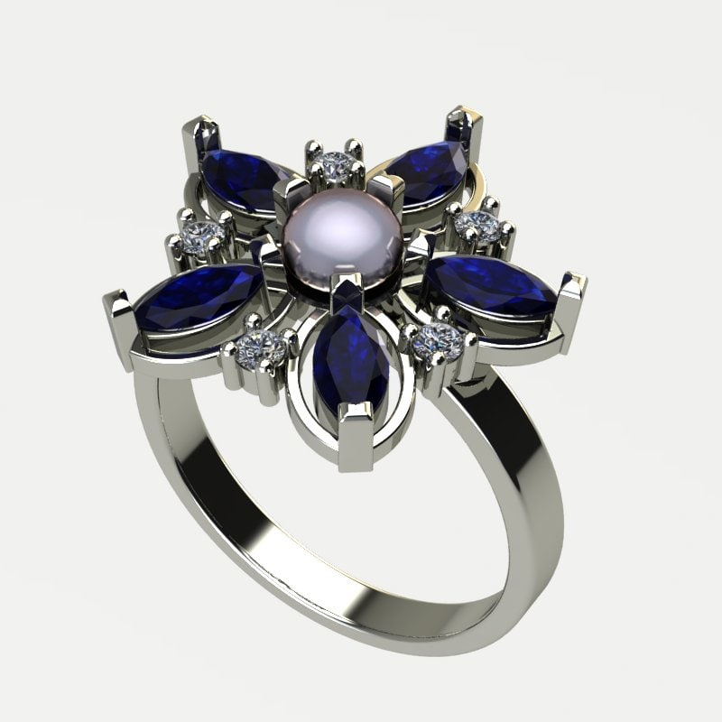 3d ring flower