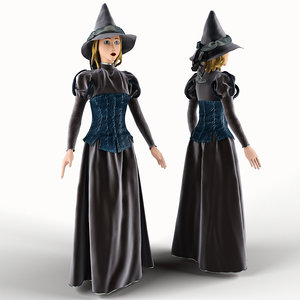 doll witch 3d model
