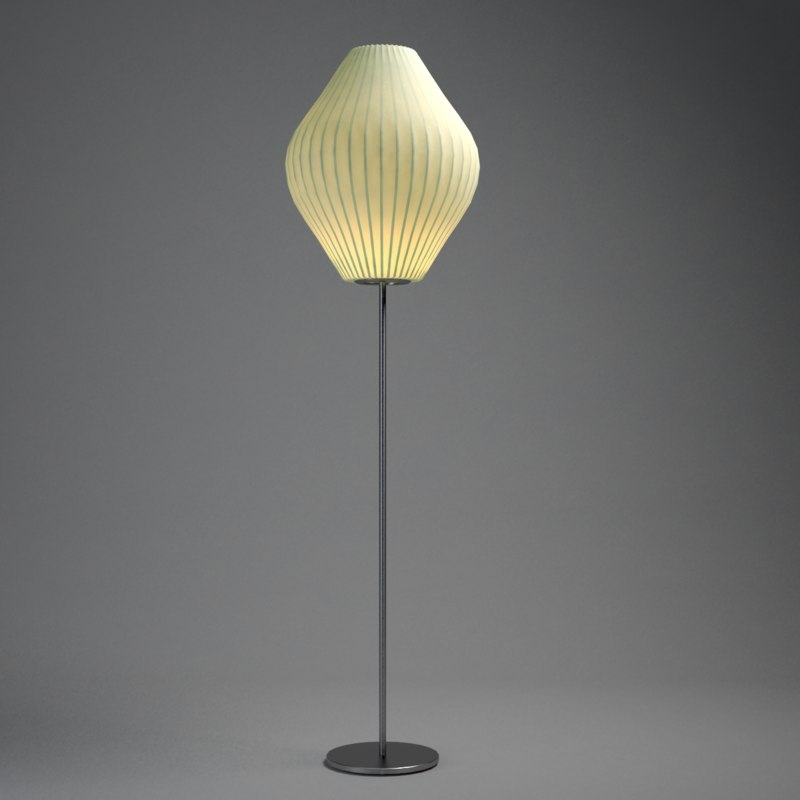 3d modernica pear floor lamp model